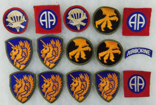 15 pcs. WWII US Airborne Patches