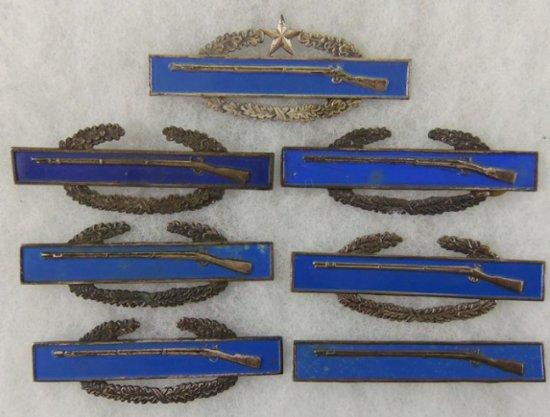 7 pcs. US Army Expert Infantry/Combat Infantryman Badges
