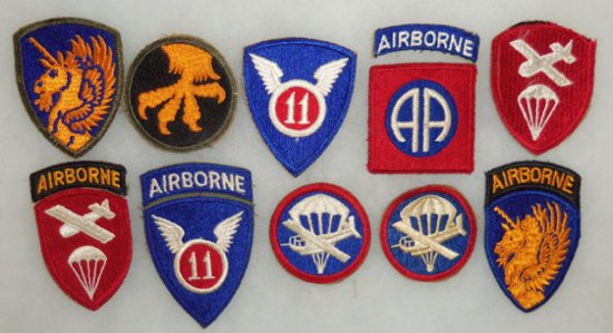 11 pcs. Misc. WWII US Airborne Patches