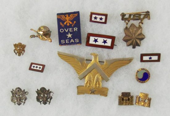 14 pcs. WW2 Misc. Sweetheart/Son In Service Pins