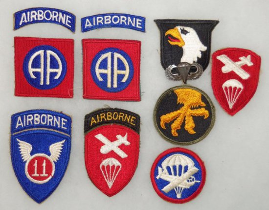 10 pcs. WWII Misc. Airborne Patches