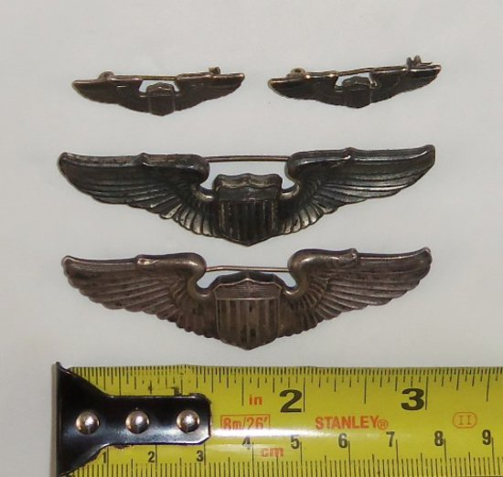 4 pcs. WWII Army Air Corps Pilot Wings