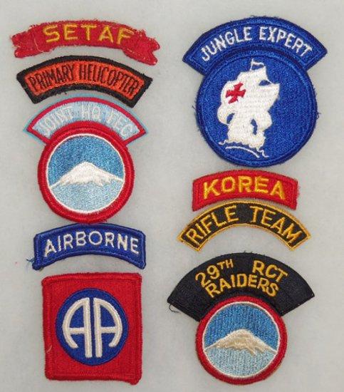 9 pcs. Korean/Vietnam War Period Misc. Patches/Tabs