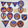 14 pcs. WW2 US Army Air Forces Patch Grouping