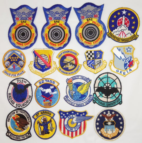 17pcs-Vietnam War/Later Period USAF Squadron Patches-Some Scarce