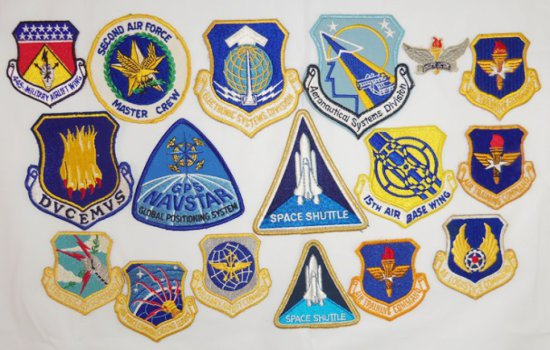 17pcs-USAF/Space Shuttle Patches
