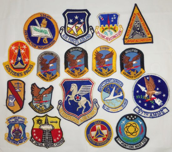 18pcs-Vietnam War/Later USAF Squadron Patches-Some Scarce!