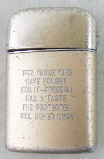 """Vietnam War Period Ronson """"Zippo"""" Style Wick Lighter With Engraving (MA43)"""