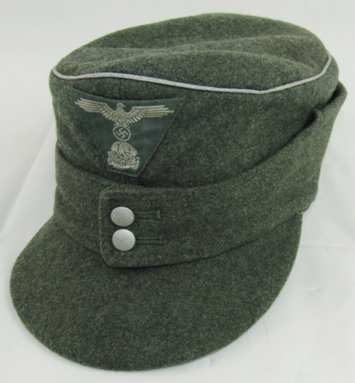 Waffen SS Officer's M43 Cap With Bevo Trapezoid Insignia