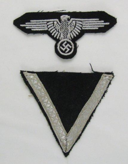 2pcs-Dachau Waffen SS Arm Eagle/Sleeve Stripe