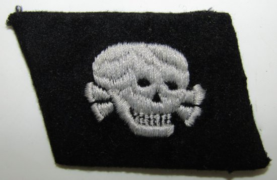 Waffen SS Totenkopf Collar Tab For Enlisted
