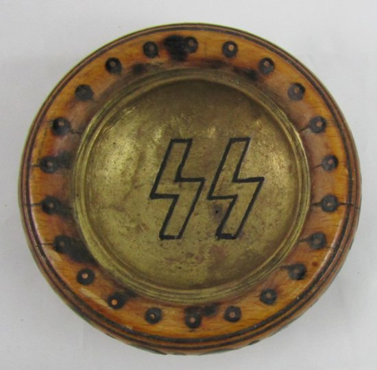 WW2 German SS Soldier Trench Art Ashtray-Karpaten 1941-1942