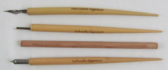 4pcs-WW2 German Map/Desk Fountain Pens/Kreigsmarine Pencil