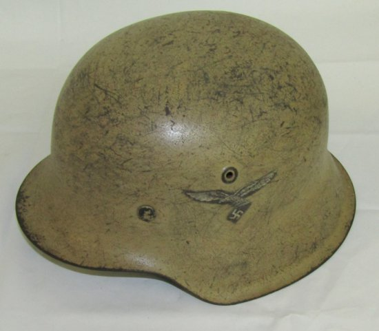 M42 Single Decal Luftwaffe Helmet With Liner-Tan Camo Finish