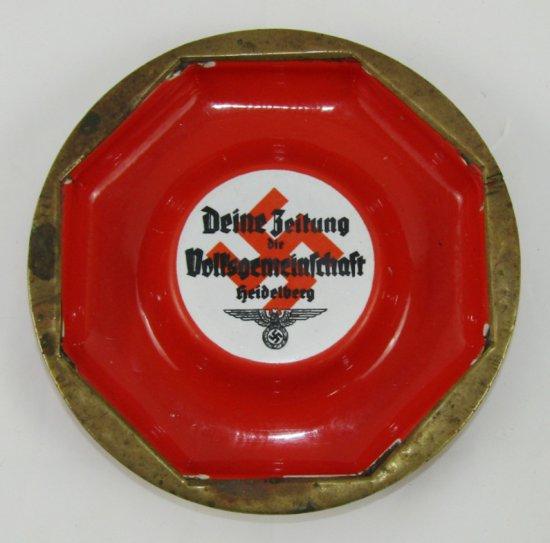 WW2 German Heidelberg Community Newspaper  Ashtray