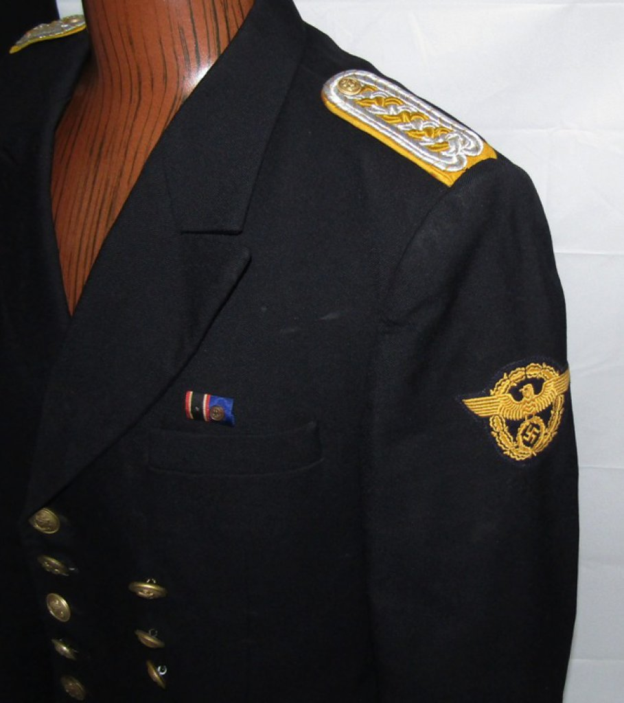 WW2 German Water Protection Police Tunic With Pants (U-50)