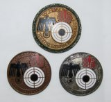 3pcs-Bronze, Silver & Gold WHW Winter Relief Marksmanship Fund Raising Badges 1941/42