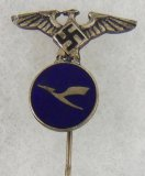 WW2 Nazi Lufthansa Plant Worker's Faithful Service Stickpin