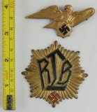 2PCS-RLB Visor Cap Badges