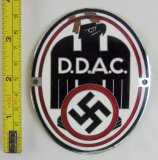 Scarce WW2 DDAC Enamel Plaque/Vehicle Plate