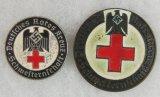 2pcs-Variant DRK Nazi Red Cross Nurse Assistant Badges-Painted Versions