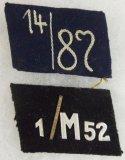 2pcs-Hansa/Hessen SA Marine (3/81) & NSKK Motorstandarte (1/M52) Collar Tabs
