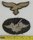2pcs-Luftwaffe Enlisted Breast Eagle/Anti-Aircraft Artillery Patch