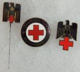 3pcs-WW2 German DRK Stickpin/Cap Device/Sanitary Worker Pin