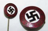 2pcs-Matching Transitional NSDAP Party Pin/Stickpin-RZM 75