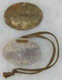 2pcs-WW2 German Soldier Dog Tags-Flak/NSKK?