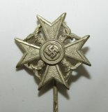 Scarce Legion Condor Spanish Cross In Silver W/O Swords Stickpin