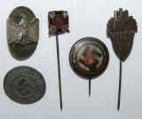 5pcs-Misc Nazi Donation Stick Pins/Lapel Pins