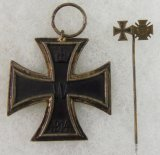 2pcs-WW1 Iron Cross 2nd Class-WW1 Iron Cross/War Merit Stickpin Combo
