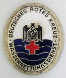 Scarce WW2 German Red Cross (DRK) Water Rescue Service Badge-Numbered