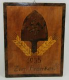 Pre WW2 RAD Wood Plaque With Inlay