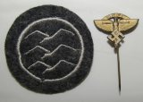 2pc-NSFK Stickpin/Embroidered NSFK/DLV Class C Glider Pilot Patch