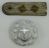 2pcs-WW2 Slip On Shoulder Board For Kreigsmarine Kapitanleutnant Rank-Belt Buckle