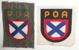 2pcs-WW2 Russian Liberation Army Sleeve Shields