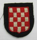 1st Pattern Waffen SS/Wehrmacht Croatian Volunteers Arm Shield