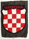 3rd Pattern Waffen SS/Wehrmacht Croatian Volunteers Arm Shield