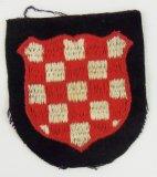 2nd Pattern Waffen SS/Wehrmacht Croatian Volunteers Arm Shield
