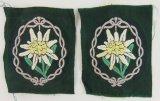 2pcs-WW2 German Mountain Troops Uniform Edelweiss Insignia