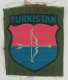 1st Pattern Turkestani Volunteers In The Wehrmacht Arm Shield