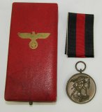Pre WWII Czech Annex Medal With Issue Case
