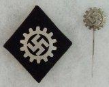 2pcs-DAF Sleeve Diamond W/RZM Label-DAF Stickpin