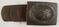 WW2 Luftwaffe Steel Combat Belt Buckle With Leather Tab-H. Aurich/1941