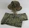 2 pcs. Vietnam War Era Tiger Stripe Boonie Hat and Pants (U-17a)