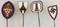 4pcs-Misc WW2 German Veteran Stickpins