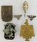 6pcs Misc. WW2 German Pins/Rally Badges/Stickpin