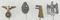 4pcs-WW2 German Stickpins-Early SA/SS Eagle-Panzer Assault Badge, Etc.